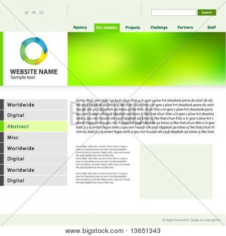 Vorlage für Website-Design, Vector.