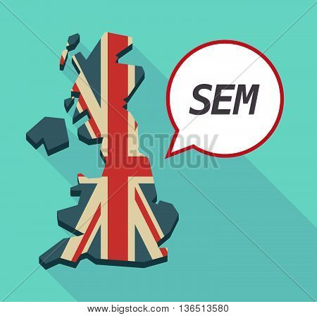 Long Shadow United Kingdom Map With    The Text Sem