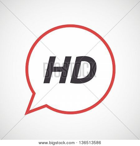 Isolated Comic Balloon Icon With    The Text Hd