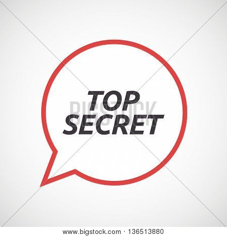 Isolated Comic Balloon Icon With    The Text Top Secret