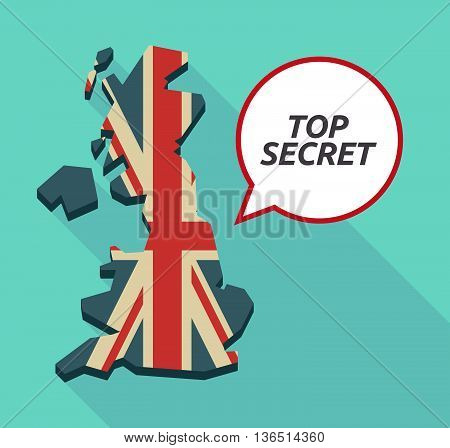 Long Shadow United Kingdom Map With    The Text Top Secret