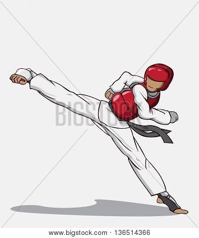 Create Taekwondo vector and illustration. Martial art