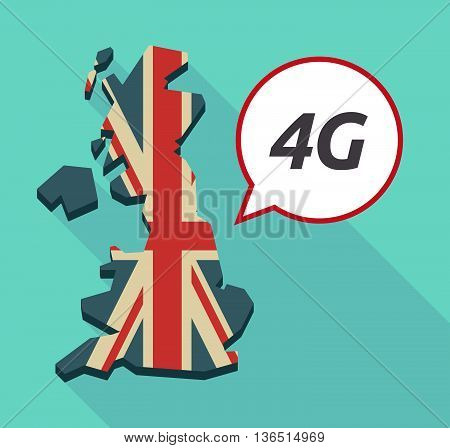 Long Shadow United Kingdom Map With    The Text 4G