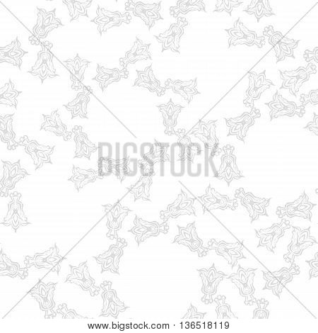Vector gray seamless abstract background with floral elements. Can be used for wallpaper, pattern fills, web page, surface textures, textile print, wrapping paper.