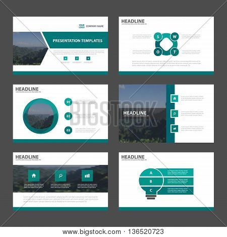 Green Abstract presentation templates Infographic elements template flat design set for annual report brochure flyer leaflet marketing advertising banner template