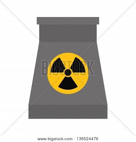 Nuclear Plant concept represented by biohazard icon. isolated and flat illustration