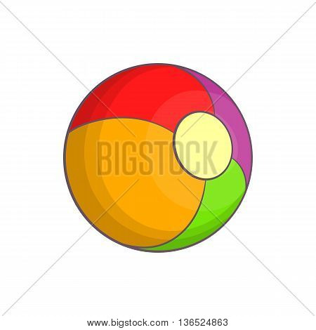 Ball icon in cartoon style isolated on white background. Entertainment for children symbol