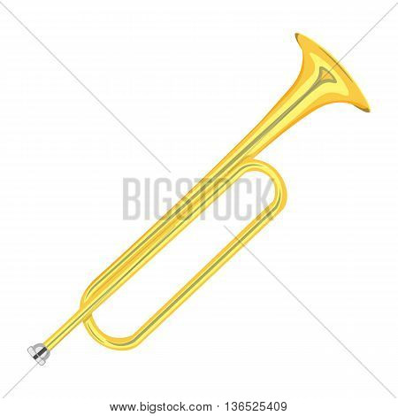 horn trumpet vector illustration isolated on a white background