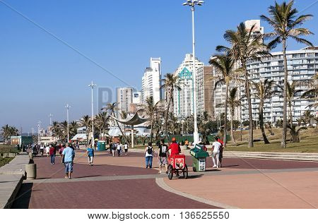 People Walking On Promenade In Durban 4