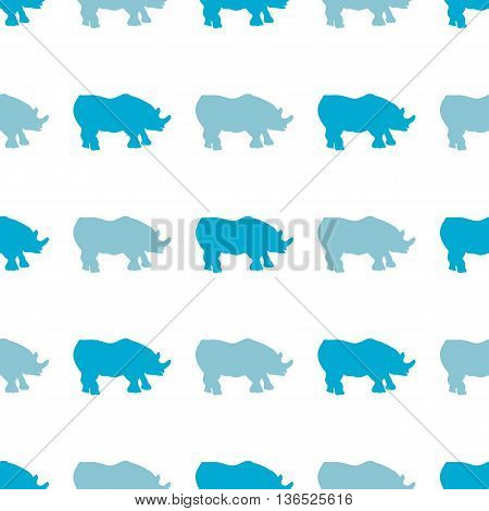 Vector Seamless Pattern With Rhinoceros. Can Be Used For, Wallpaper, Pattern Fills, Web Page Backgro