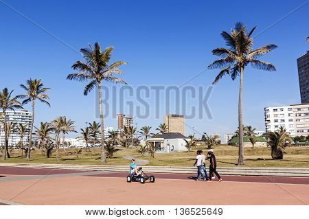 People Walking On Promenade In Durban 2