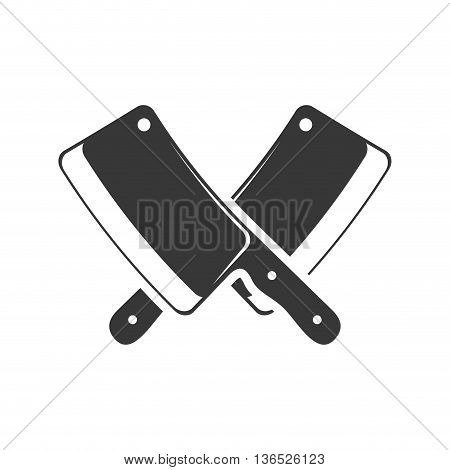 Steak house instrument concept represented by knife icon. isolated and flat illustration