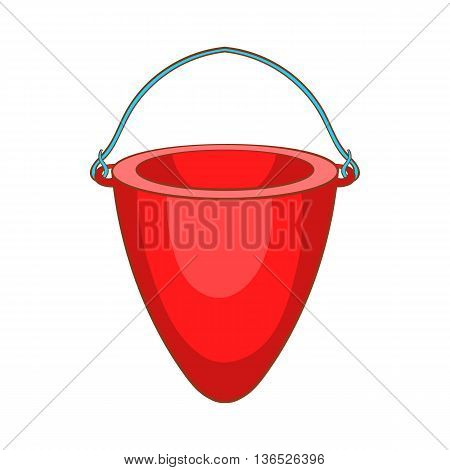 Fire bucket icon in cartoon style isolated on white background. Equipment symbol