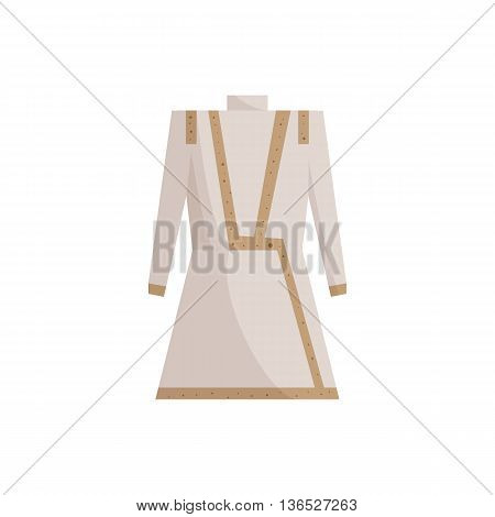 Indian male costume icon in cartoon style isolated on white background. National clothes symbol