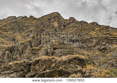Nariz Del Diablo Mountain Low Angle View