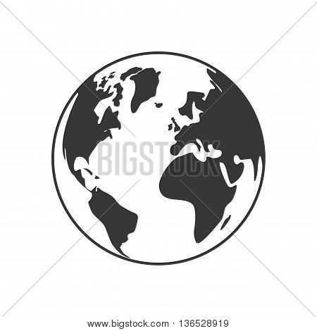 Earth concept represented by planet icon. isolated and flat illustration