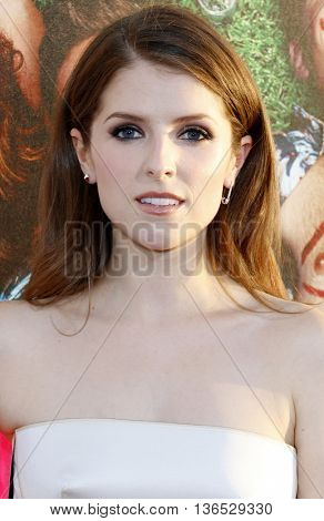 Anna Kendrick at the Los Angeles premiere of 'Mike And Dave Need Wedding Dates' held at the ArcLight Cinemas in Hollywood, USA on June 29, 2016.