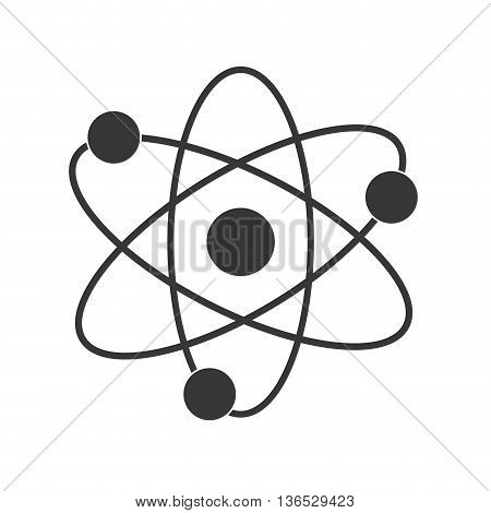 Science concept represented by atom icon. isolated and flat illustration
