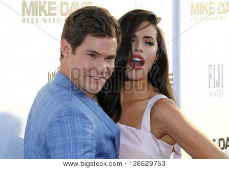 Adam DeVine and Chloe Bridges at the Los Angeles premiere of 'Mike And Dave Need Wedding Dates' held at the ArcLight Cinemas in Hollywood, USA on June 29, 2016.
