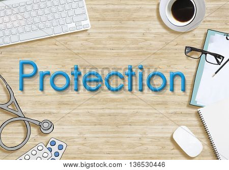 Protection Security Safety Health Concept