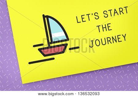 Let Start Journey Concept