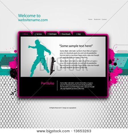 Website-Design-Templates, Vektor.