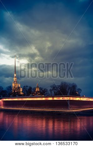Hare island, the Peter and Paul fortress ,St. Petersburg, Russia