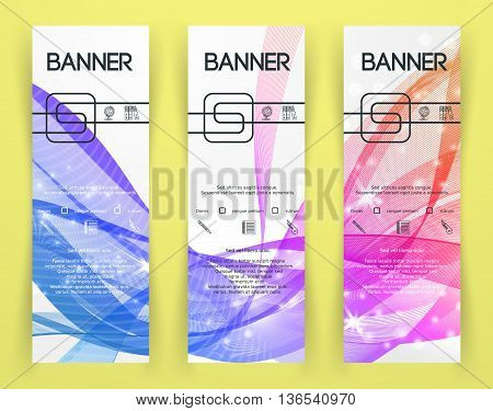 Classic Corporate Identity Flyer Template with rainbow wave on light background. Festival Invitation. Background for Banners. Vector illustration