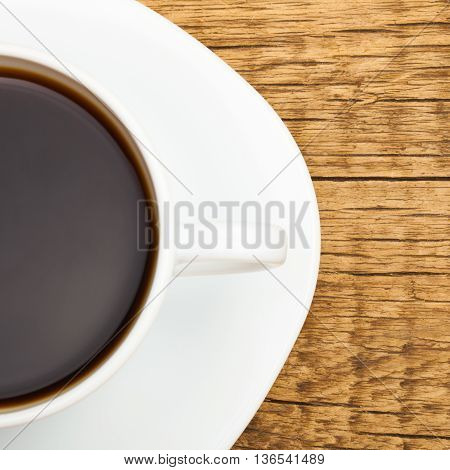 Cup Of Strong Black Coffee - Close Up Studio Shot