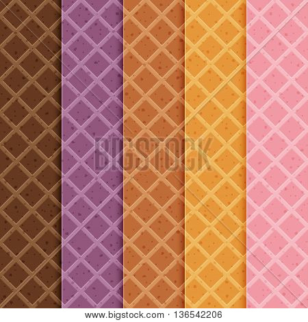 Wafer Pattern seamless waffle texture vector cone
