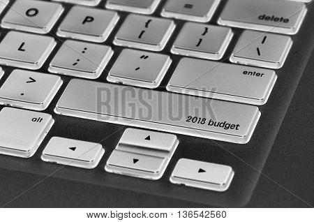 The Computer Keyboard Button Written Word 2018 Budget