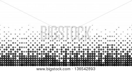 Horizontal Gradient Seamless Background with Black Dots