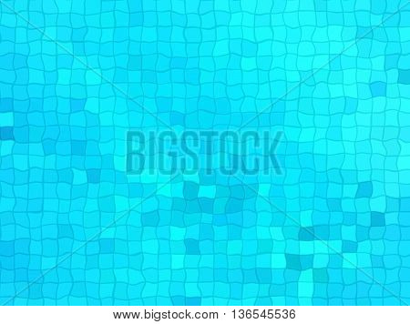 Illustration of bright blue wavy cell background