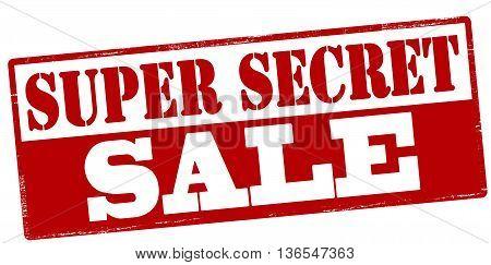Rubber stamp with text super secret sale inside vector illustration