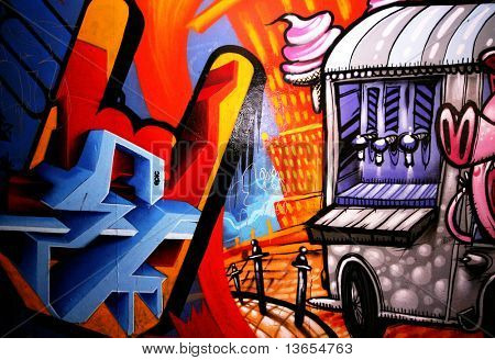 a fun graffiti picture