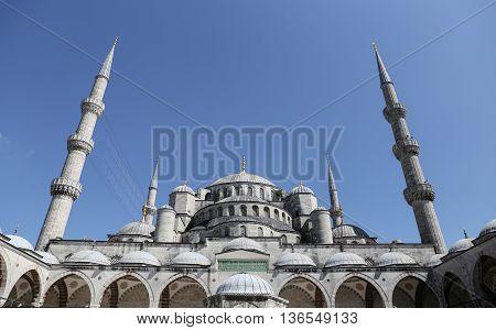 Sultanahmet Blue Mosque in Istanbul City Turkey