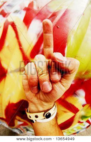 Middle finger up!