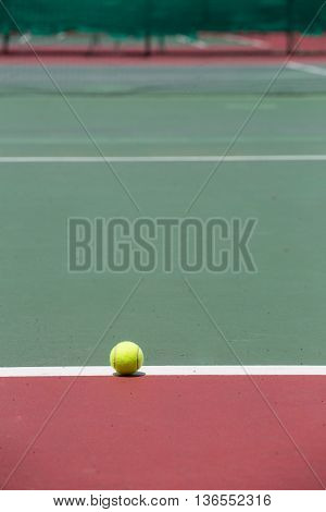 Tennis Ball on the Court for background
