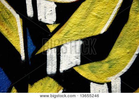 Abstract and Colorful graffiti tag