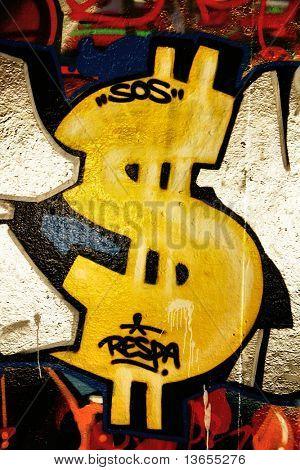 Graffiti Dollar sign