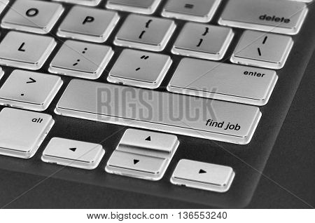 Keyboard  Button Written Word Find Job