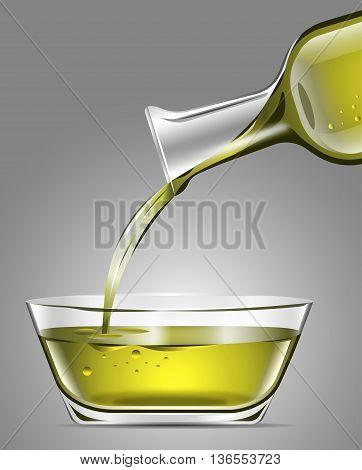 Serving olive oil in a glass jar