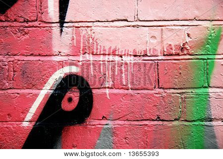 Dripping abstract graffiti