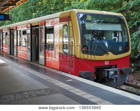 S-bahn (meaning S-train) In Berlin