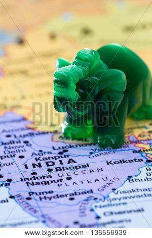 India And Elefants Concept