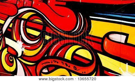 Colorful, Vibrant, Illegal Graffiti Tag in Brighton