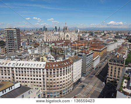 Aerial View Of Milan, Italy