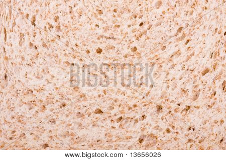 White Bread With Bran Close Up