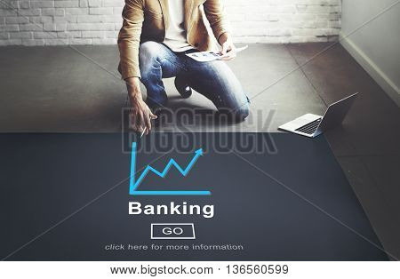Banking Growth Strategy Graph Development Concept