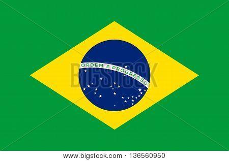 Brazil flag vector illustration national flag isolated